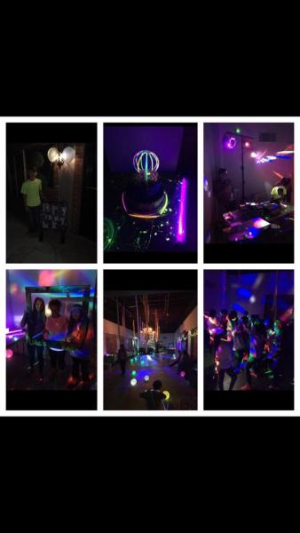 Our event venue makes the perfect location for all your parties including glow parties! Bring your lighting, glow sticks and let the magic begin!